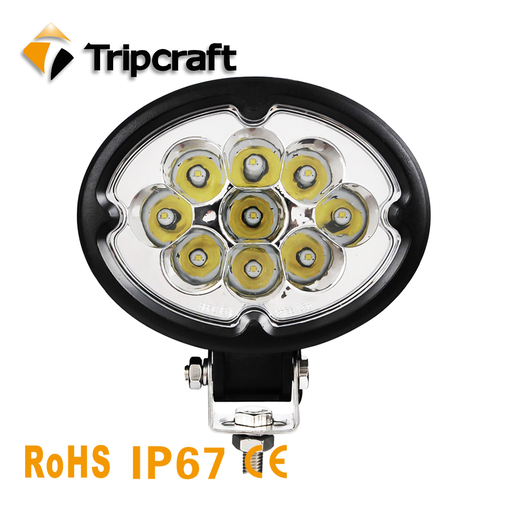 HOT SALE 4inch 27W LED Work Light offroad driving lamp spot flood beam for Car Motorcycle Tractor Boat Offroad 4WD Truck