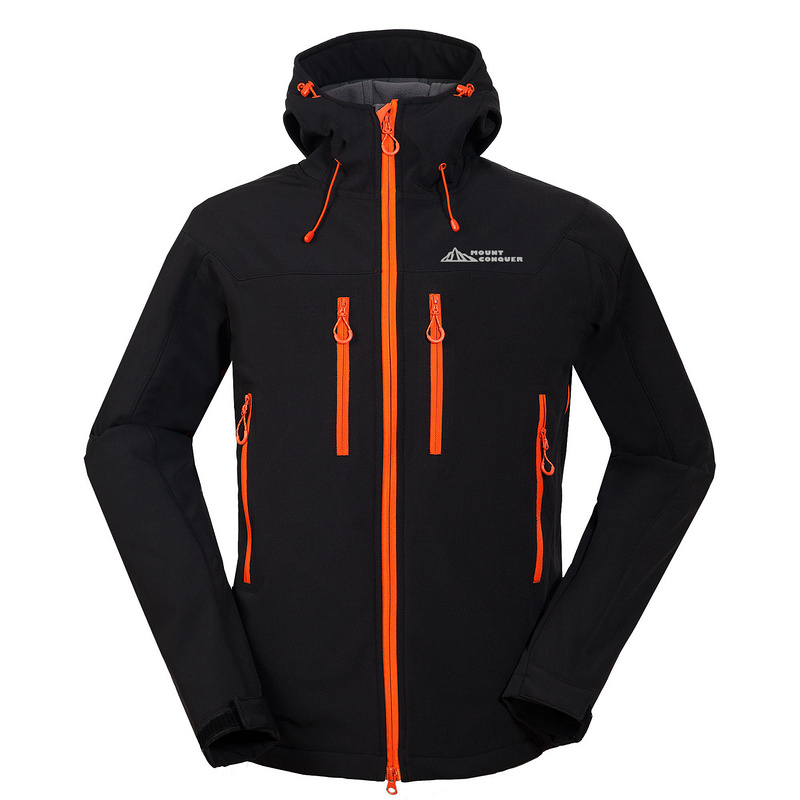 2017 hommes en plein air Sport porter randonnée veste Softshell polaire coupe-vent imperméable Camping cyclisme montagne de haute qualité vêtements