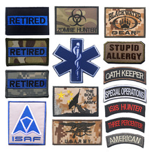 Embroidered Epaulettes English AlphabetStickers Strips Skull Dead Head Fred Patch Retired Badges for Backpacks Brooch Banner