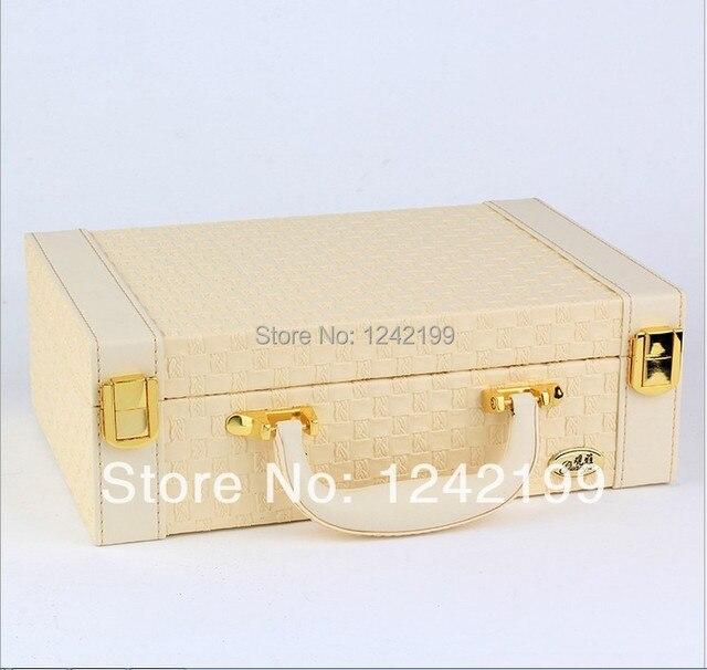 New style luxury Jewelry Box Leather jewelry organizer for holding