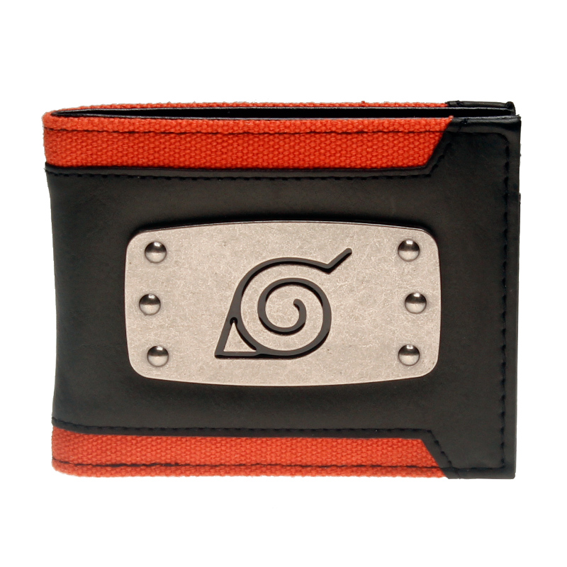 Naruto สีดำ Bi - Fold กระเป๋าสตางค์ DFT-3147