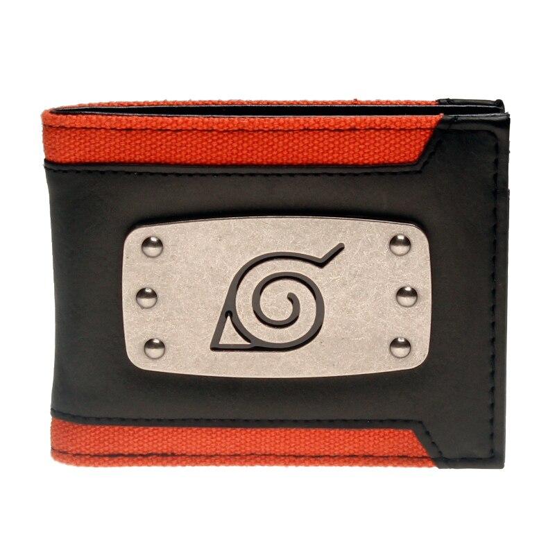 Naruto Schwarz Bi-Falten Brieftasche DFT-3147