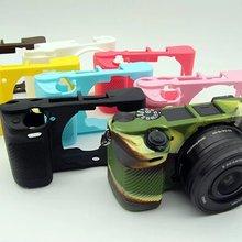 Мягкий силиконовый чехол для камеры, защитный чехол для sony A6000 A6400 A6300 A6500 A5100 a5000беззеркальная камера, резиновый чехол