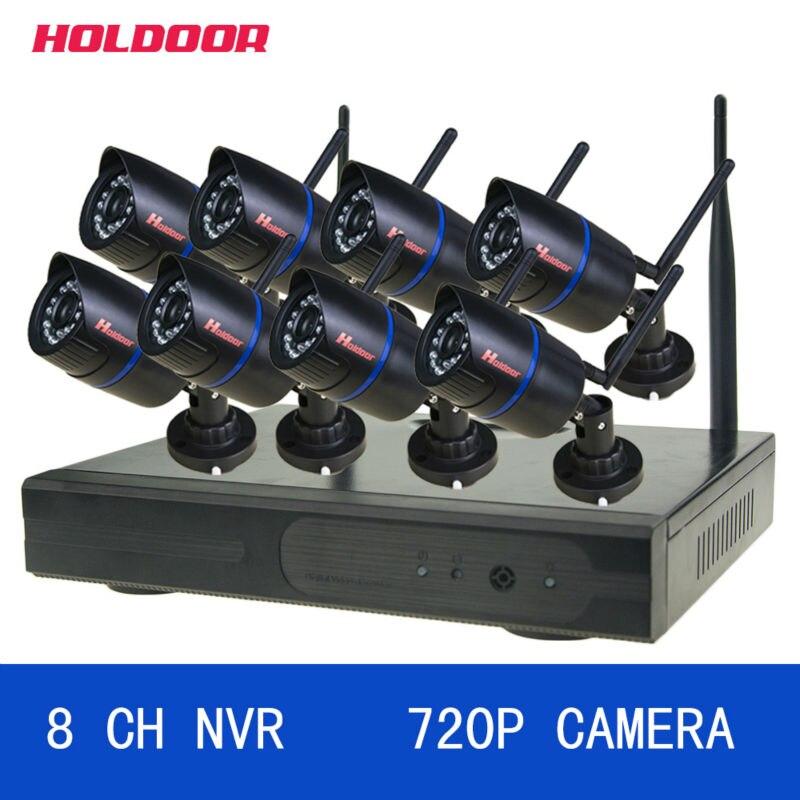 8ch NVR serveillance Системы с Беспроводной 720 P HD IP Камера Поддержка ИК Ночное видение ИК переключатель день и ночь plug and play 03