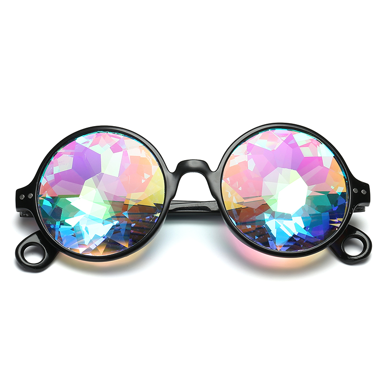 ad1fcc6fda Round Kaleidoscope Glasses Women rave festival Sunglasses Men Holographic  Glasses Colorful Celebrity Party Eyewear-in Sunglasses from Apparel  Accessories on ...