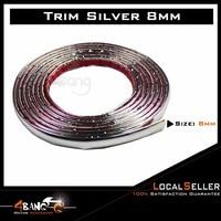 1299 inch 8mm Chrome Trim Molding Strip Car Side Mirror Edge Interior Door Bumper Adhesive Sticker