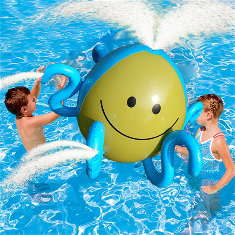 Fun Water Toys For Adults : Abbyfrank inflatable octopus spraying water family