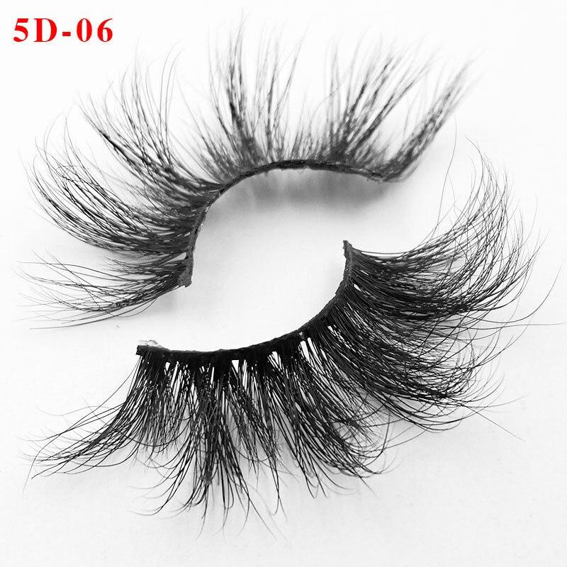 5 pairs 25mm Long 3D mink lashes extra length mink eyelashes Big dramatic volumn eyelashes strip thick false eyelash in False Eyelashes from Beauty Health
