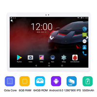 2019 Global Version 10.1 inch tablet 6GB RAM 64GB ROM Octa Core Android 8.0 128x0800 IPS 8 Core Tablet Pc