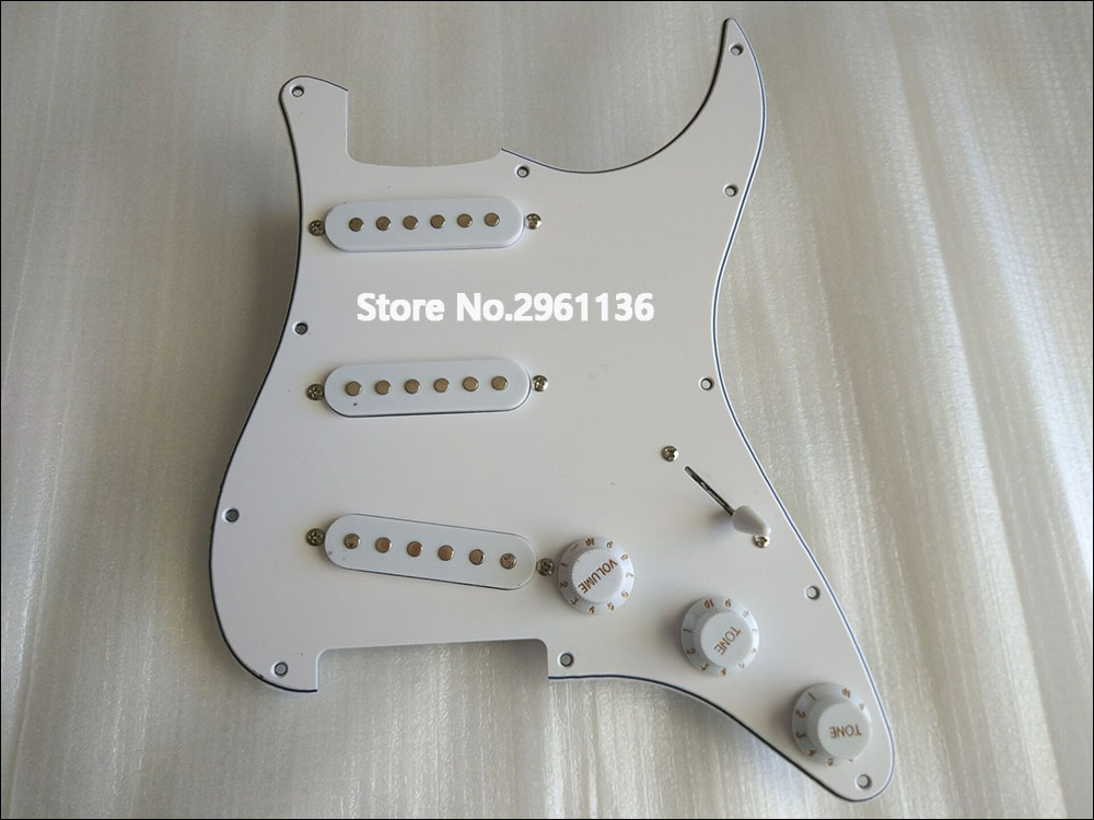 Hot Sell st electric guitar Pickups and circuit boards ,white colour,Real photos,free shipping,wholesale! hot sale top quality white lp custom guitar with golden hardware electric guitar free shipping white color