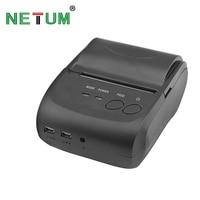 NT-5802DD Portable Bluetooth Thermal Printer Mini 58mm bluetooth android and ios pos printer mobile USB receipt printer NETUM