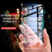 Закаленное стекло для huawei Y9 2018 Y7 премьер Экран протектор для huawei Y5 Y6 Prime 2018 9 H Оригинал закаленное стекло