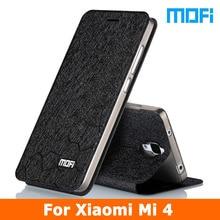 2016 New For Xiaomi Mi 4 Flip leather cover+TPU soft case Stand holder 5.0 inch Mofi Phone Case for xiaomi mi 4 mi4 m4