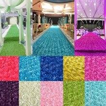 Роза цветок прохода бегун моющееся свадебное Т-образное ковровое покрытие для сцены не деформация Свадебные вечерние украшения противоскользящие Свадебные сценические реквизиты