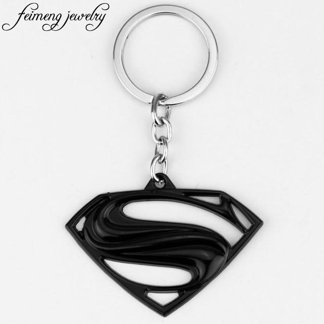 superman keychain superhero s logo zinc alloy keyring gold silver