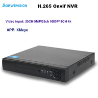 Aokwevision New Arrival XMeye Onvif 16ch H 265 H 264 NVR Network Video Recorder Support 8ch
