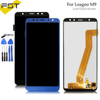 Black/Blue 640*1280 5.5''For Leagoo M9 LCD Display+Touch Screen Digitizer Assembly Repair Parts+Tools For M9 LCD Screen