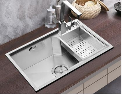 free shipping sink handmade single trough 304 stainless steel kitchen dishes wash basin thickened handmade kitchen. beautiful ideas. Home Design Ideas