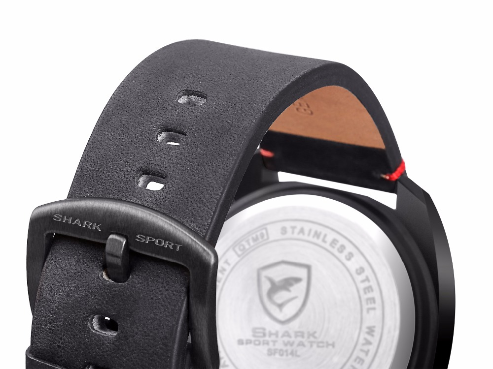 Designer Red Tawny Shark Men Wrist Watch