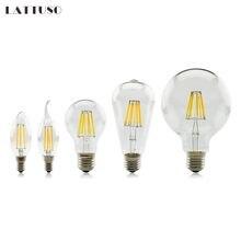 Led bulb E27 E14 2W 4W 6W 8W Vintage Edison lamp A60 ST64 C35 G45 G95 G125 AC220V transparent Glass Filament light Retro lamps