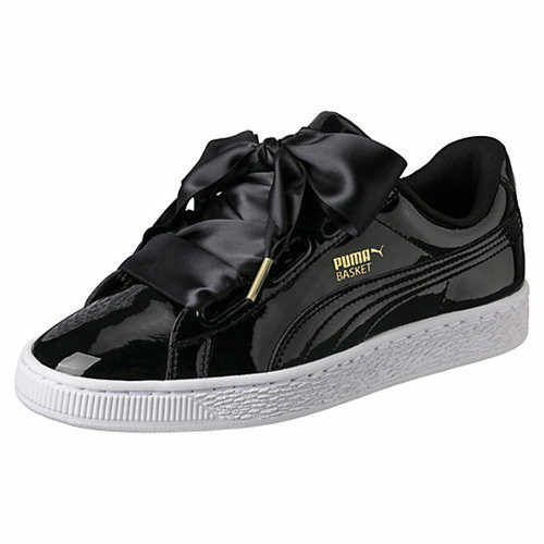 ... Original PUMA 2018 New Arrival Basket Heart Patent Women s Flat Lace-up  Skate Shoe Leisure ... 8db406bad3b3