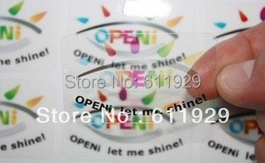 Free shipping customized transparent waterproof PVC sticker adhesive,round or rectangle shape,custom label for garment,underware