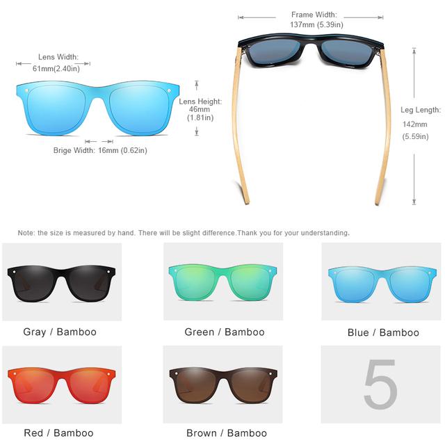 Men's Bamboo Frame Polarized Sunglasses