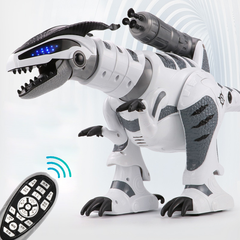 RC Intelligent Dinosaur Model Electric Remote Control Robot Mechanical War Dragon With Music&Light Functions Children Hobby Toys storage cable