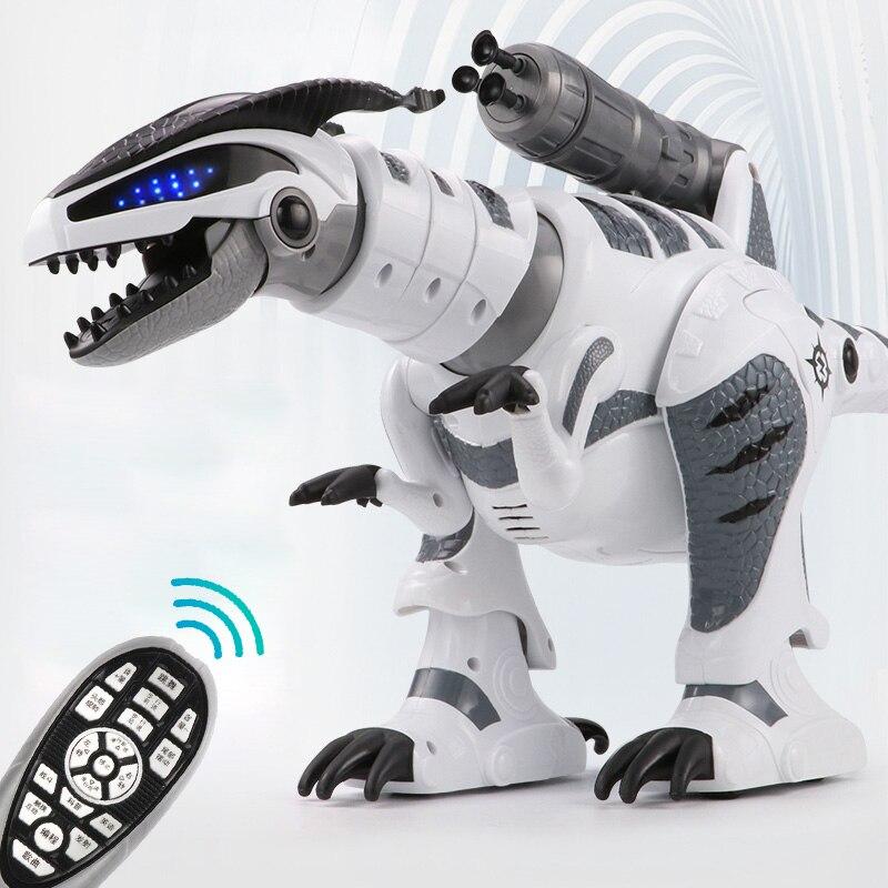 RC Intelligente Dinosaurier Modell Elektrische Fernbedienung Roboter Mechanische War Drache Mit Musik & Licht Funktionen Kinder Hobby Spielzeug