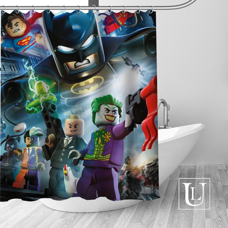 Us 12 23 49 Off Custom Marvel Lego Shower Curtain More Size Waterproof Fabric Shower Curtain For Bathroom Decor Dropshipping In Shower Curtains From