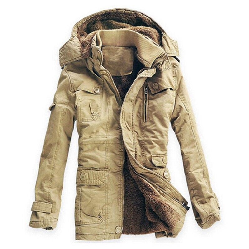 2019 nouvelle mode hiver veste hommes Outwear respirant chaud manteau Parkas épaississement décontracté coton rembourré veste polaire Parkas-in Parkas from Vêtements homme    1