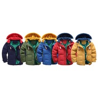 Baby Girl Boy Autumn Winter Warm Solid Long Sleeve Coats Kids Children High Quality Hooded Zipper Casual Soft Clothing Outerwear