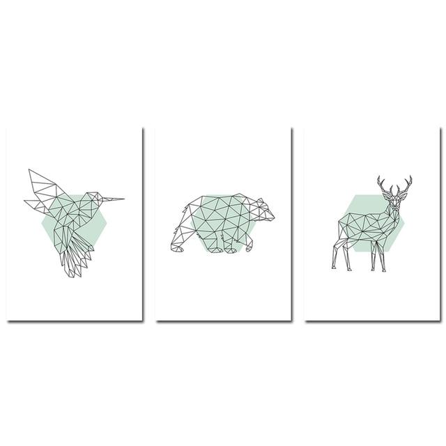 3 pcs Set Woodland animal wall stickers 5c64f8b255695