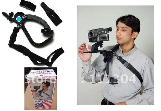 ФОТО  Hand free Shoulder support Pad holder tripod thread for camcorders Video Camera holder
