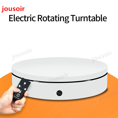 White 60cm 360 Degree 3D Remote Control Adjustable Speed Direction Electric Rotating Shooting table for Photography