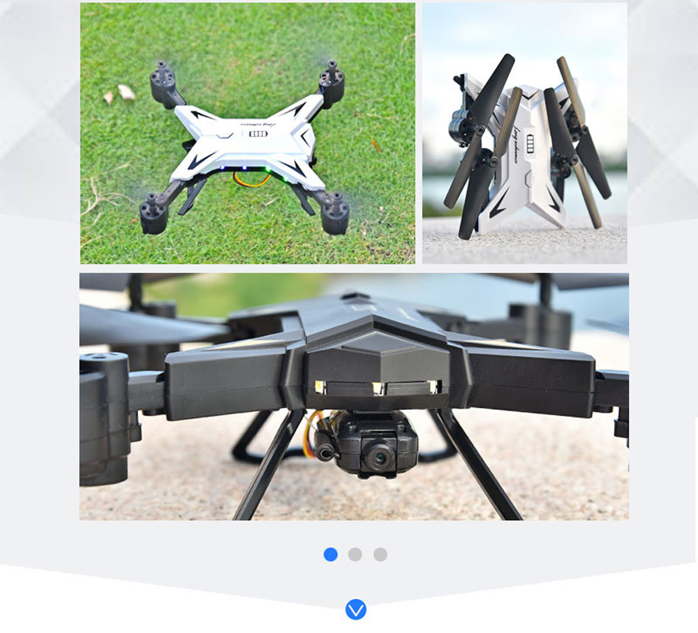 601S 1080P 5MP Quadcopter With Camera Foldable WIFI FPV Drone 20Min Flying 6-axis 4CH RC Helicopter Selfie Drones With Camera HD 22