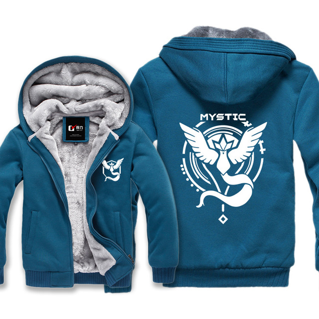 "New Men Casual  ""Team Mystic"" Pokemon Go Articuno  Sweatshirt Male Hoody Cloak Shawl Hoodies"