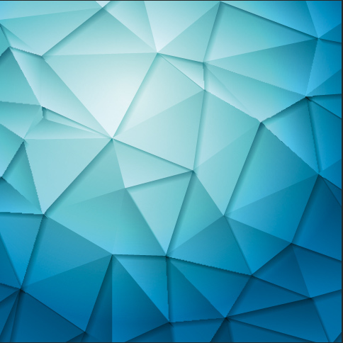 8x8ft Light Blue Geometric Triangle Polygons Wall Wedding