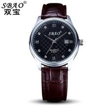 SBAO Brand Fashion Lover's watch women watches men's waterproof female quartz watch Wrist watches for women,free shipping