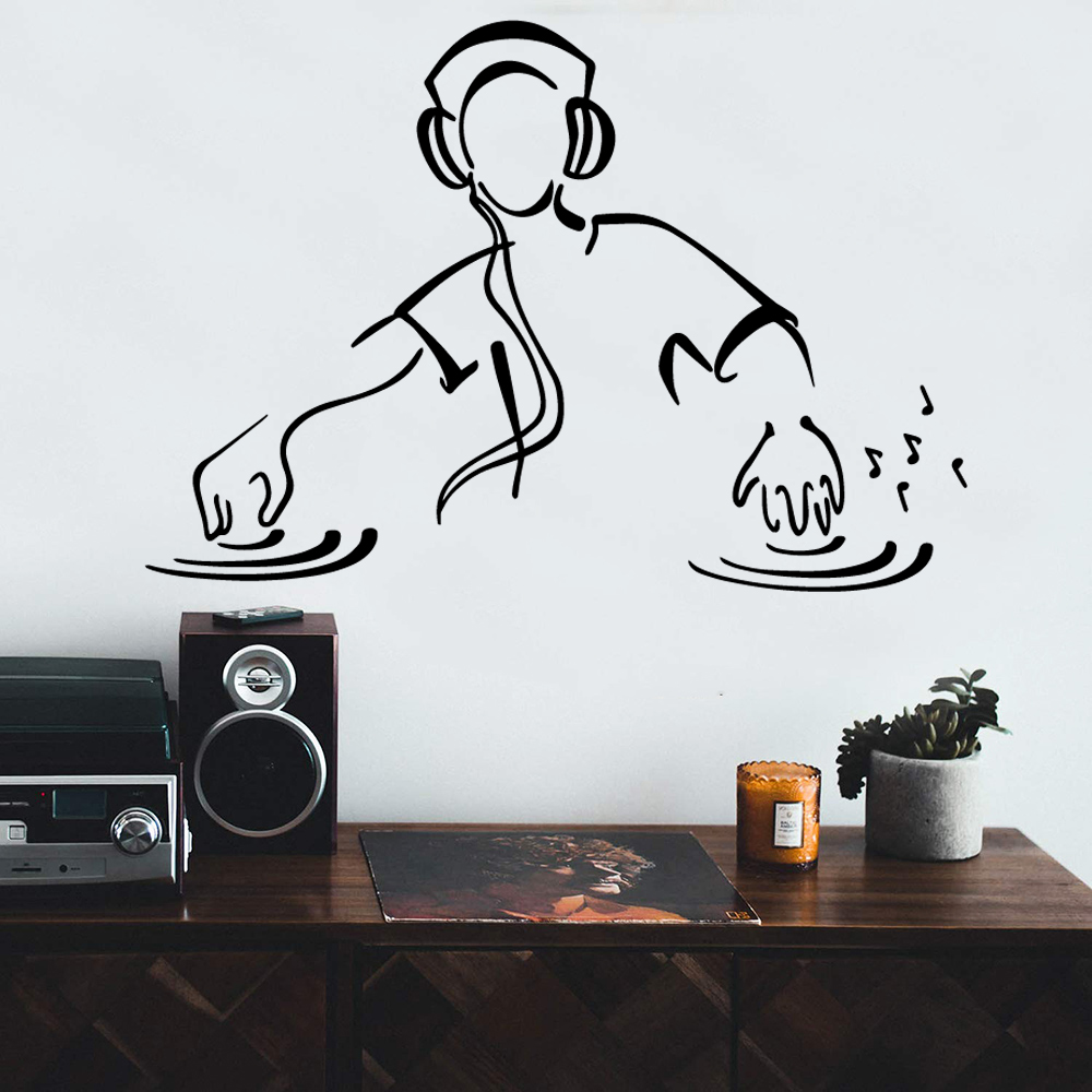 Wall Decal Dj Disc Hanmai Vinyl Stickers Home Decoration Accessories For Commercial Waterproof Party Art