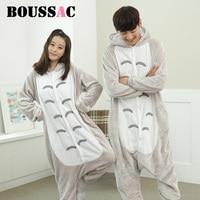 Boussac Cat Pajamas Unisex Adult Pajamas Suits Flannel Pajamas Winter Garment Cute Cartoon Animal Onesies Pyjamas
