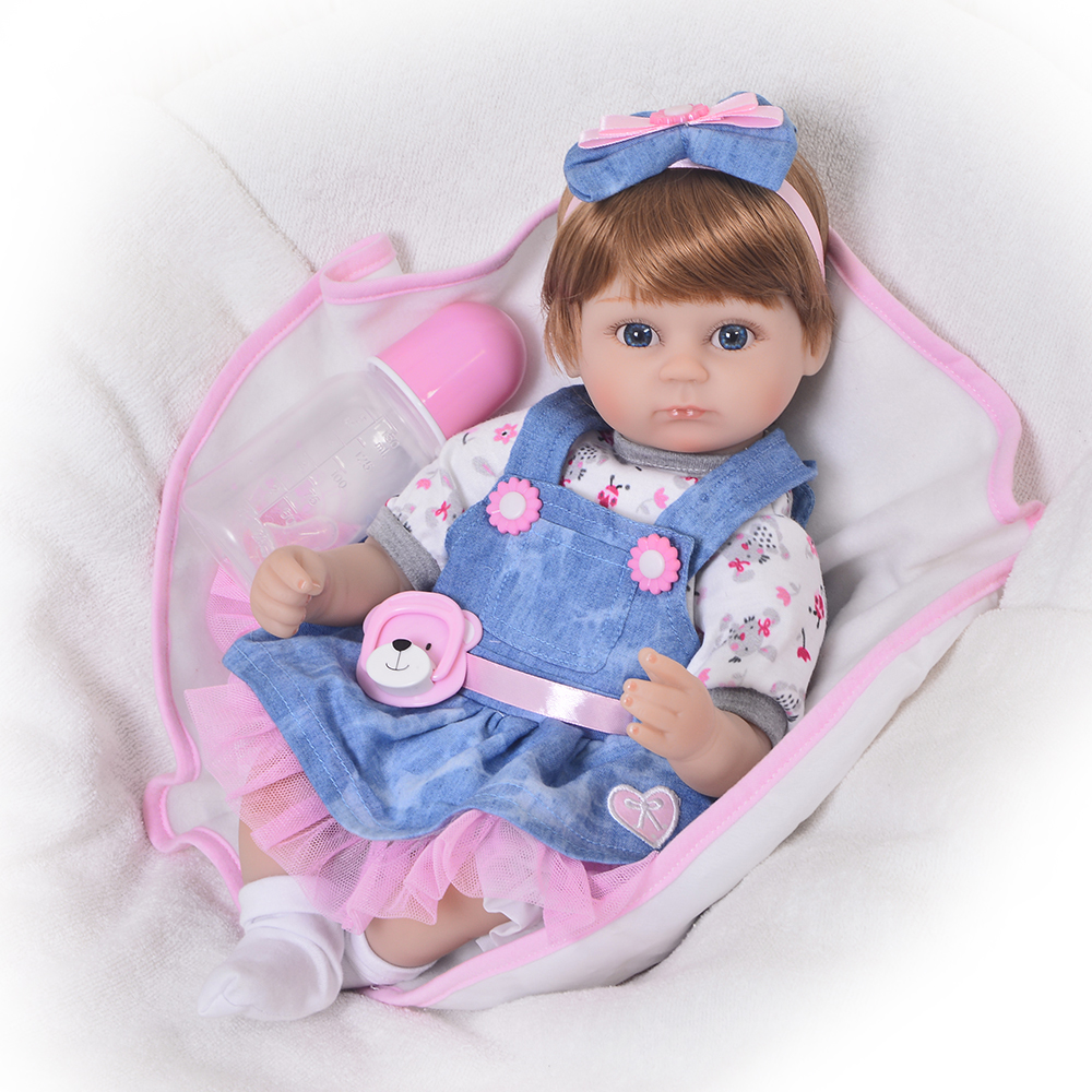 Fashion 17 Inch Lifelike Princess Reborn Baby Girl Dolls Wholesale 57 cm Realistic Boneca Reborn For Childrens Day GiftsFashion 17 Inch Lifelike Princess Reborn Baby Girl Dolls Wholesale 57 cm Realistic Boneca Reborn For Childrens Day Gifts