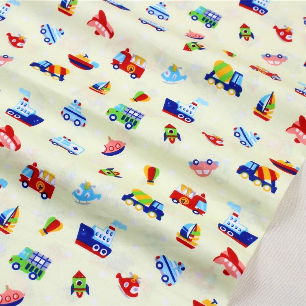 1509361 cartoon car series cotton fabric 50cm 150 cm diy for Childrens material