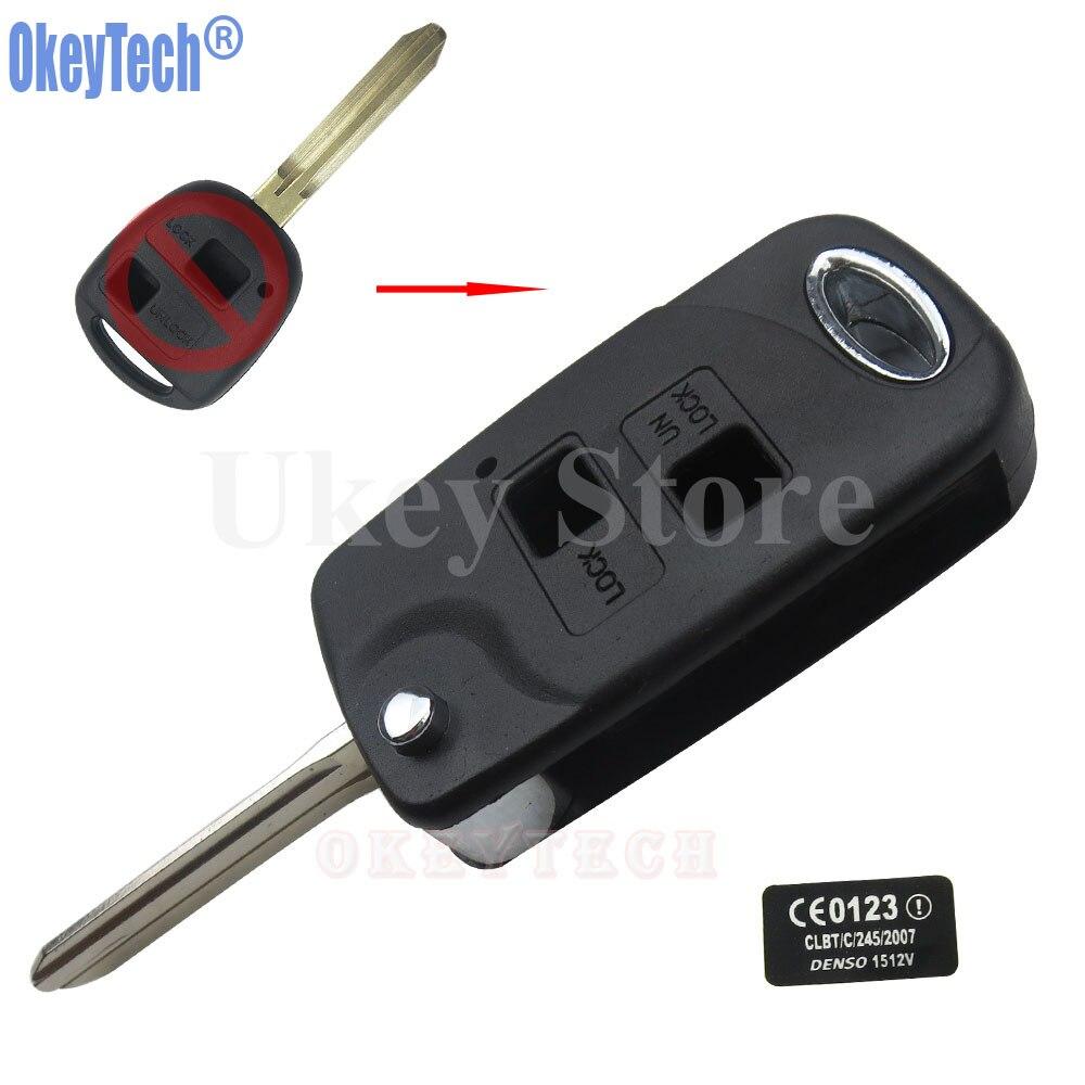 цена на OkeyTech 2 Button Modified Remote Key Case For Toyota Camry RAV4 Prado Corolla Tarago Avensis Avalon EHCO Land Cruiser Fob Shell