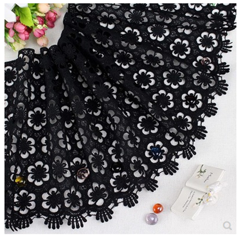 1yard 31cm black water soluble lace trim sewing ribbon guipure trimmings fabric garter bra DIY Garment Accessories