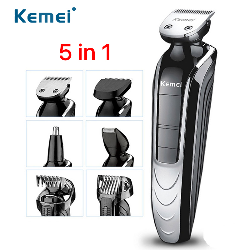 Washable Shaver Electric Trimmer Men Ear Nose Trimmer Waterproof Hair Clipper Set 5 In 1 Haircut Beard Eyebrows Shaving Machine nose ear trimmer electric razor shaving machine multi function hair trimmer beard shaver trimer new haircut men hair clipper kit