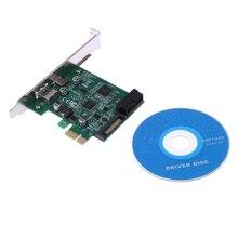 PCIE Адаптер TYPE-C + + 19PIN USB3.0 SATA Питания Карты Расширения Разъем для Настольных Пк до 1.5 Мбит/С
