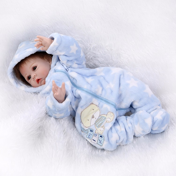22 Inch Hot Sale Silicone RebornBaby Dolls Play House Reborn Girl Boy Babies kids Child Brithday Christmas Gift Girls Brinquedos