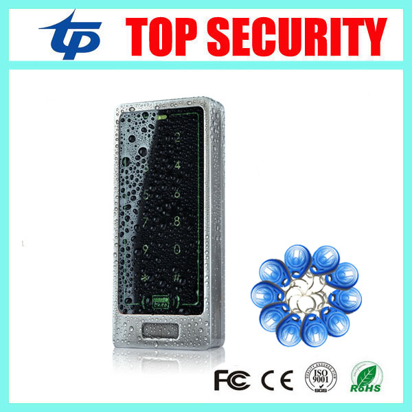 Good quality standalone RFID card smart card access control keypad 8000 user face waterproof door access control system M12-B backlight metal shell ip68 waterproof rfid 125khz em id smart card entry lock keypad standalone door access control system