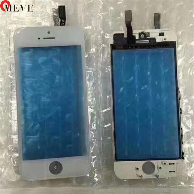 Zapasowa przednia szklana soczewka z ekranem dotykowym Digitizer z ramką do iPhone 5 5S 5c 6 plus 6S szklany panel dotykowy
